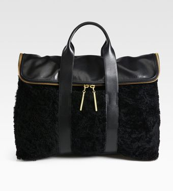 3.1 Phillip Lim 31 Hour Shearling Top Handle Bag - Lyst
