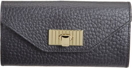 Chloé Sally Continental Wallet in Black (gold) - Lyst