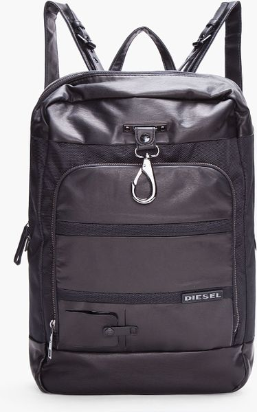 Diesel Black Near Laptop Backpack in Black for Men - Lyst