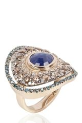 Fabrizio Riva Sapphire and Diamonds Ring - Lyst