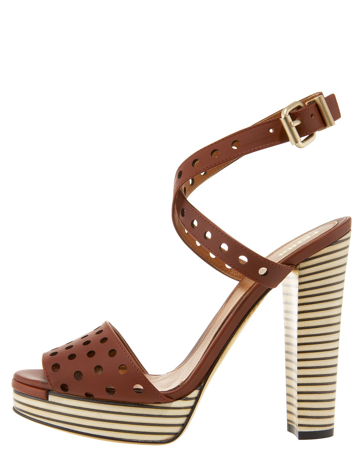 Platform leather sandals Fendi