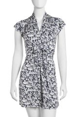 French Connection Orchid Print Jersey Dress - Lyst