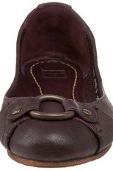 Frye Carson Harness Ballet Flat in Purple (eggplant) - Lyst