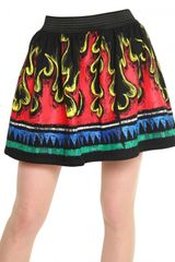 JC de Castelbajac Printed Cotton Fleece Skirt - Lyst