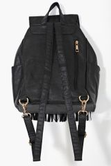 Nasty Gal Fringed Backpack in Black - Lyst