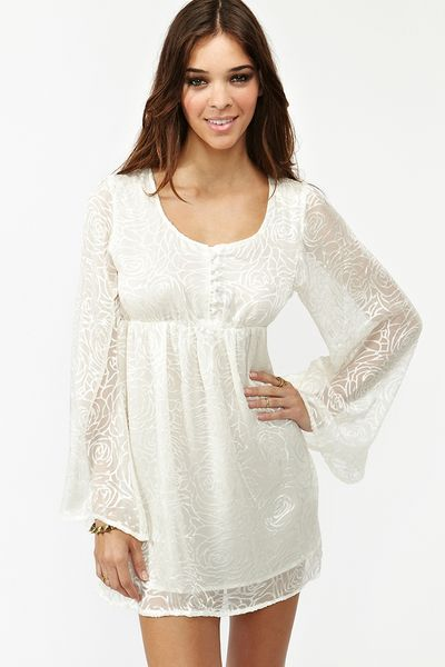 Nasty Gal Mirror Mirror Dress in Beige (ivory) - Lyst