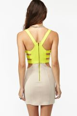 Nasty Gal Colorblock Corset Dress - Lyst