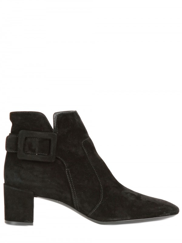 roger vivier 45mm polly suede low boots in brown black