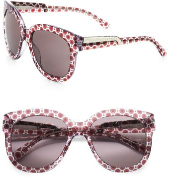 Stella McCartney Printed Wayfarer-Inspired Plastic Sunglasses - Lyst