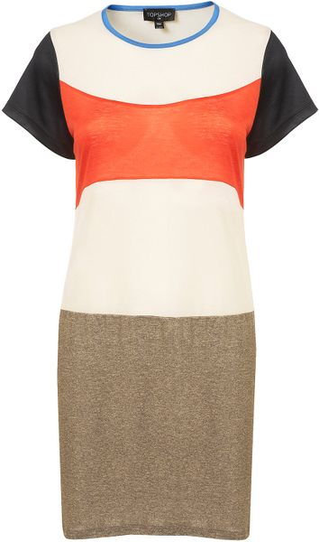 Topshop Reclaim To Wear Block Tshirt Dress in Multicolor (multi) - Lyst
