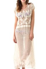 Zimmermann Meadow Crochet Dress - Lyst