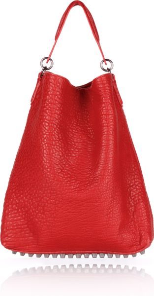 Alexander Wang Darcy in Cayenne Pebble Lamb with Black Nickel in Red (cayenne)