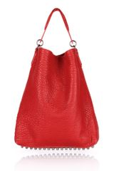 Alexander Wang Darcy in Cayenne Pebble Lamb with Black Nickel - Lyst