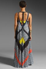 Bcbgmaxazria Runway Maxi Dress in Multicolor (moonlight dark ink) - Lyst
