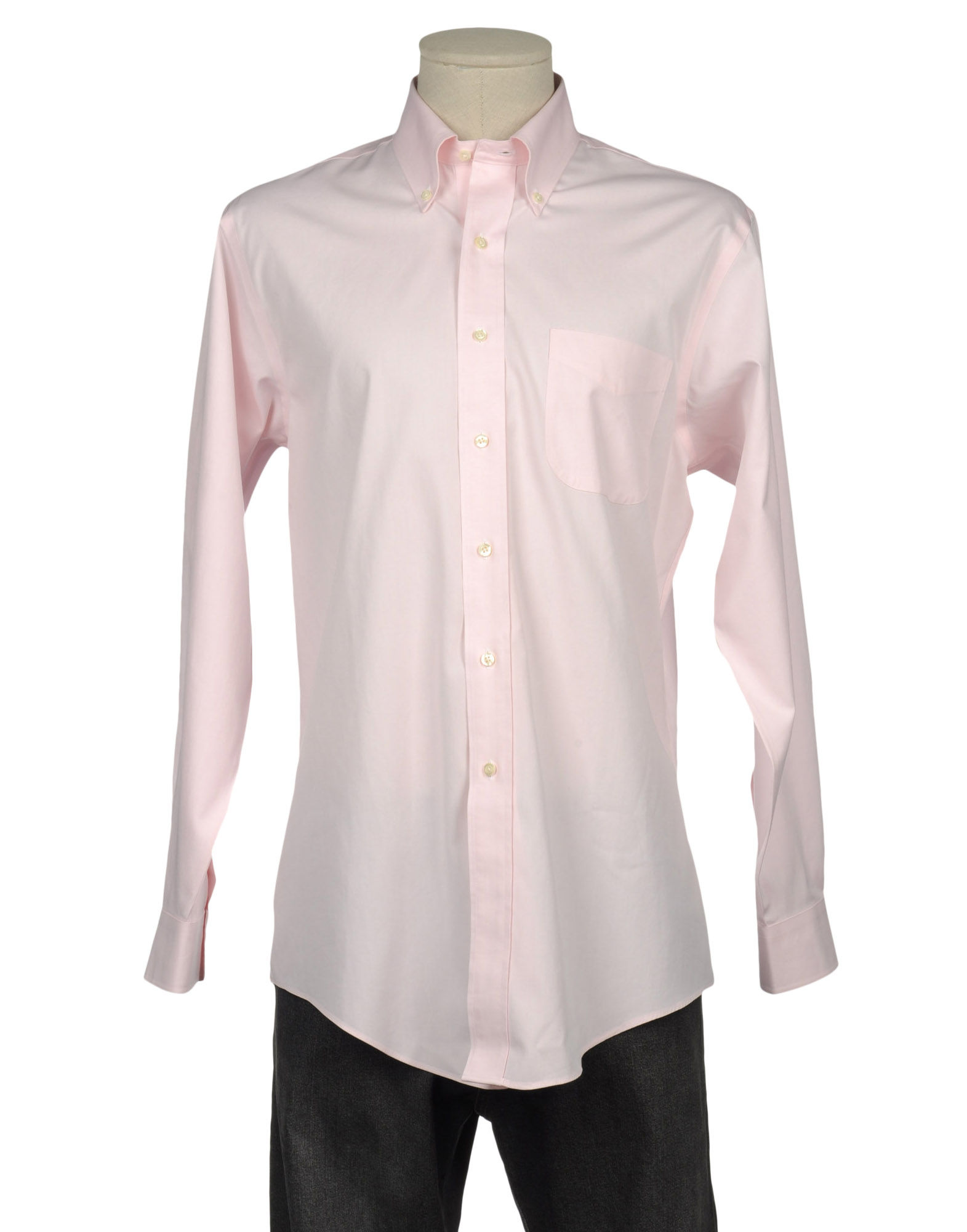 Brooks brothers pink long sleeve shirt for men lyst for Mens pink long sleeve shirt