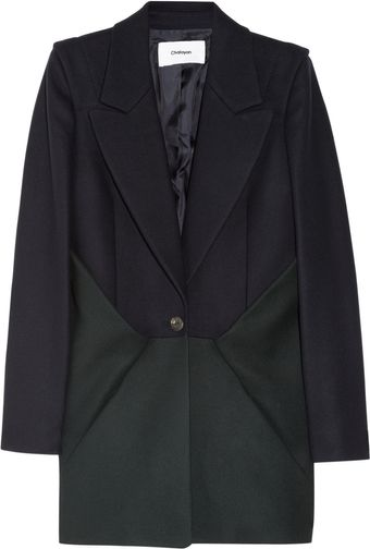 Chalayan Pinch Colorblock Felted Woolblend Jacket - Lyst