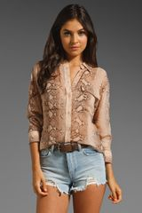 Equipment Signature Python Blouse - Lyst