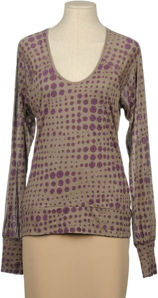 Kenzo Long Sleeve T-shirt in Purple (grey)