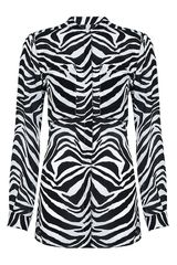 Michael by Michael Kors Zebra Silk Shirt - Lyst