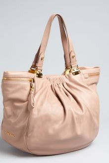Miu Miu Cameo Nappa Leather Zipper Detail Tote Bag - Lyst