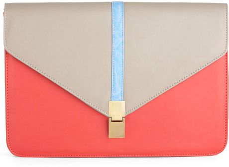 Modcloth Statement To Be Clutch in Pink (teal) - Lyst