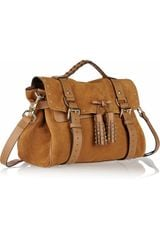 Mulberry Tassel Studded Suede Bag in Brown (oak) - Lyst