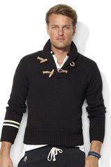 Polo Ralph Lauren Longsleeved Cotton Shawl Pullover - Lyst