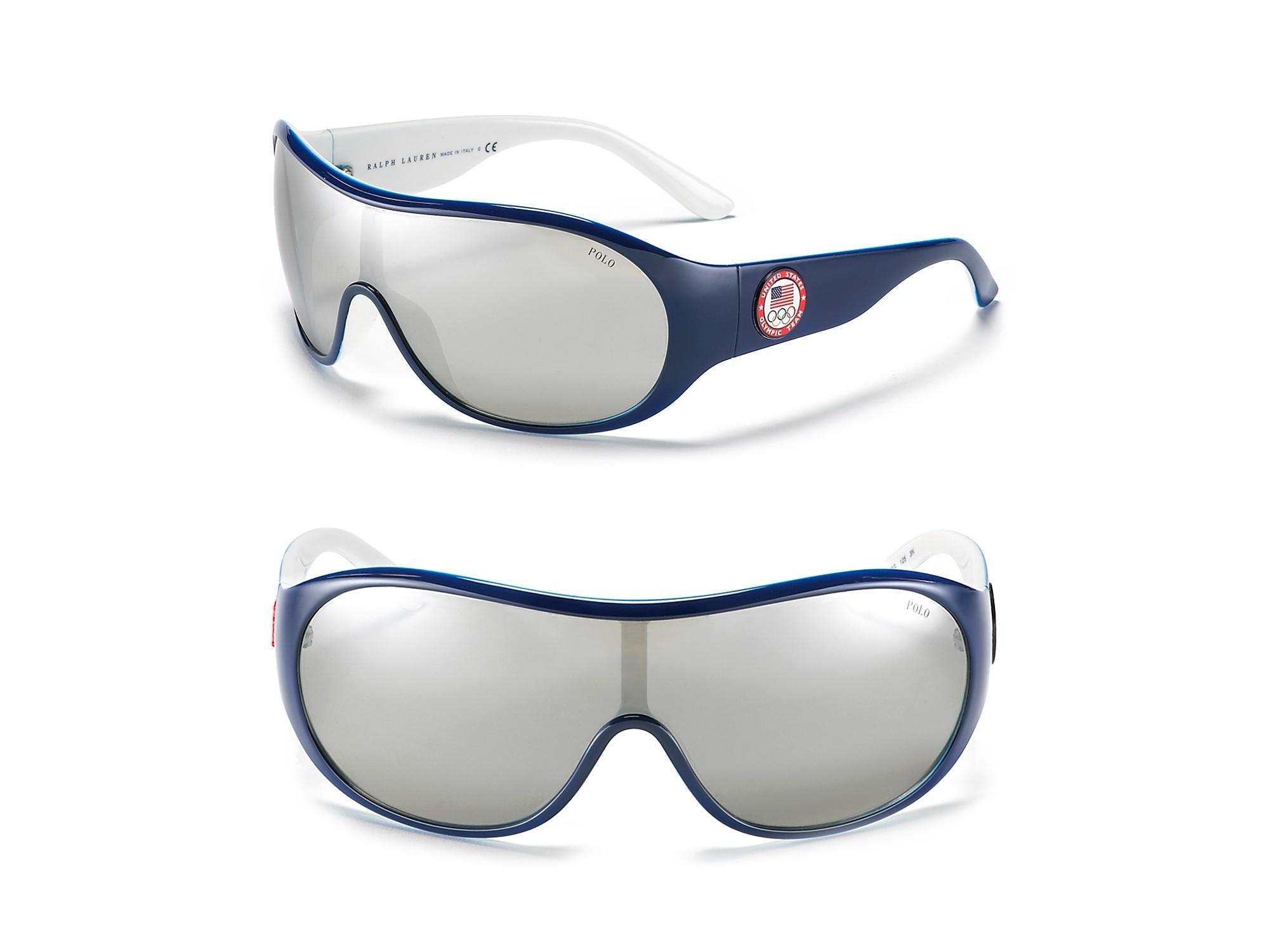 13007e87037 Lyst - Polo Ralph Lauren Olympic Shield Sunglasses in Blue for Men