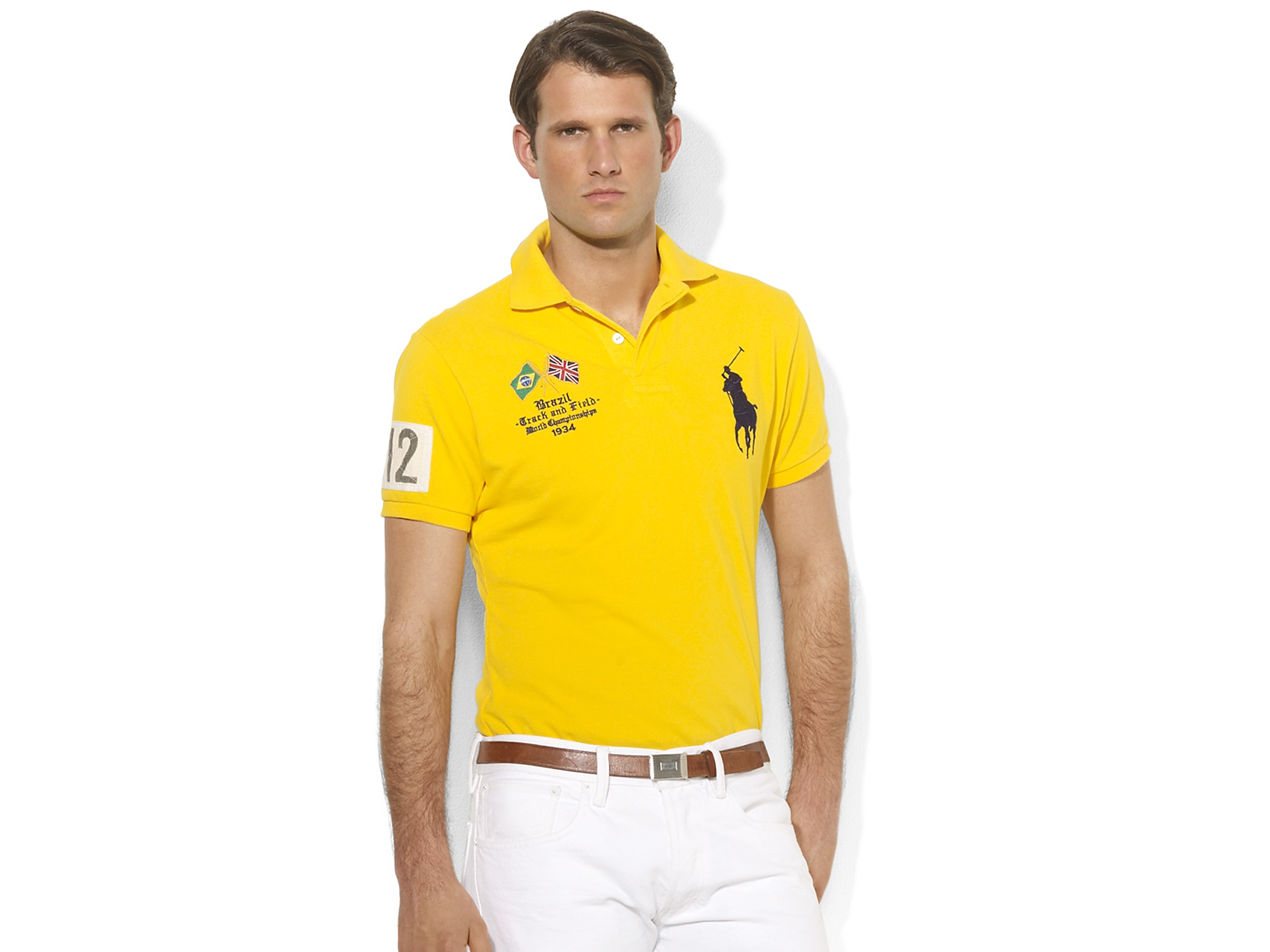 Lyst - Polo Ralph Lauren Brazil Country Mesh Polo in ...