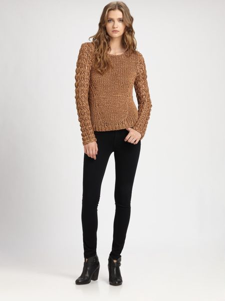 Rag & Bone Farah Sweater in Brown (copper) - Lyst