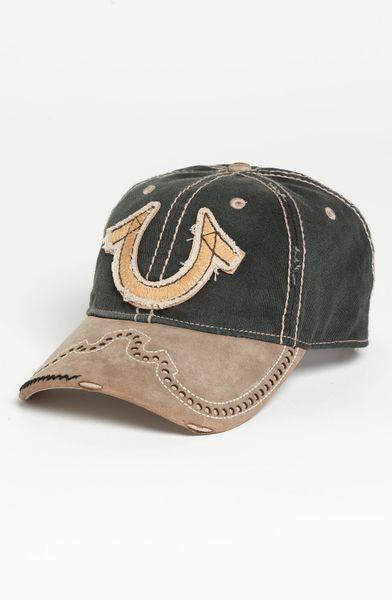 true religion western horseshoe baseball cap in green for men black lyst. Black Bedroom Furniture Sets. Home Design Ideas