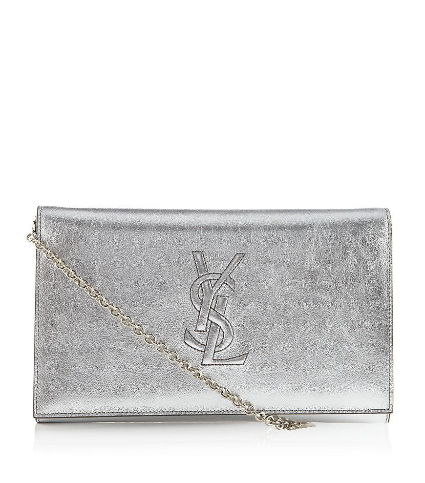 3d1e327dd1fb Saint Laurent Belle De Jour Clutch Bag in Metallic - Lyst