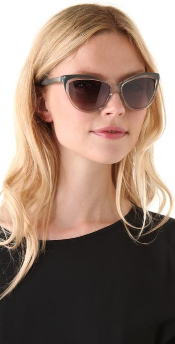 f3de8b4b87 Saint Laurent Exaggerated Cat Eye Sunglasses - Lyst