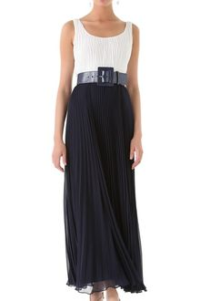 Alice + Olivia Leila Pleated Maxi Dress with Belt - Lyst