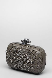Bottega Veneta Shadow Intreccio Rings Knot - Lyst