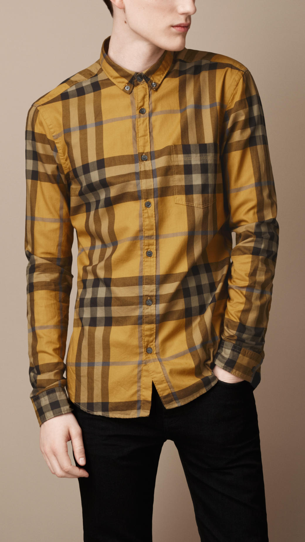Mens Yellow Dress Shirts