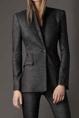 Burberry Wool Twill Tailored Jacket - Lyst