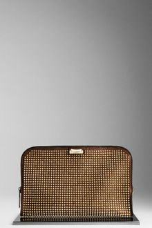 Burberry Studded Leather Document Case - Lyst