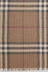 Burberry Giant Check Gauze Rectangular Scarf - Lyst