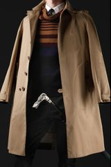 Burberry Prorsum Fitted Cotton Trench Coat - Lyst