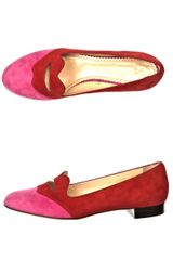 Charlotte Olympia Bisoux Loafers in Red - Lyst