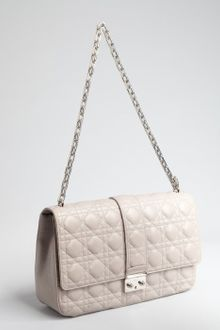 Dior Grey Cannage Leather Chain Strap Shoulder Bag - Lyst