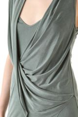 Helmut Lang Shale Jersey Flip Front Dress in Gray - Lyst