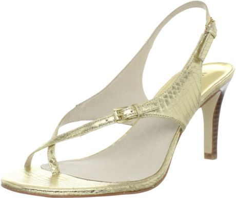Michael By Michael Kors Michael Michael Kors Womens Eleni Thong Sandal in Gold - Lyst