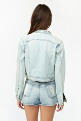 Nasty Gal Nasty Gal X Minkpink Studded Denim Jacket in Blue (denim) - Lyst
