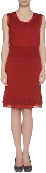 Philosophy Di Alberta Ferretti Short Dress in Red - Lyst
