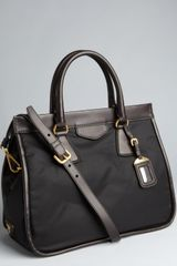 Prada Black Nylon and Leather Large Convertible Tote - Lyst