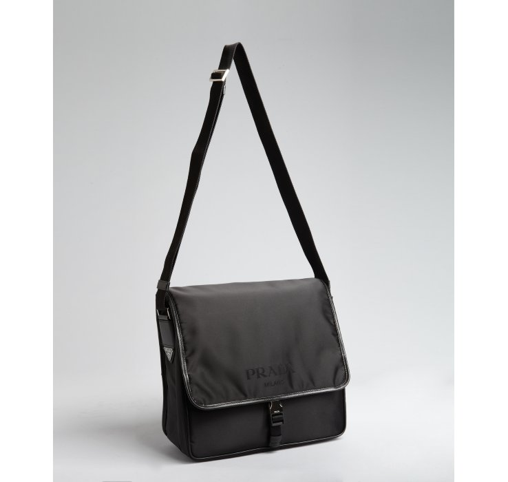 prada messenger bag black nylon