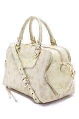Rebecca Minkoff Jealous Satchel in Gold - Lyst