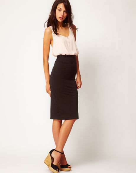 Discover pencil skirts at ASOS. From bodycon to tube skirts, shop your favourite colours and styles. The streamline pencil skirt remains an elegant classic. ASOS DESIGN uncut cord button through midi skirt in washed black. £ Lost Ink Plus midi pencil skirt in rainbow sequin. £ Lipsy sequin embellished midi skirt in gold.